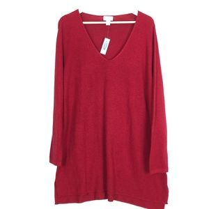 Old Navy Red Light-Weight Knit Sweater Size 2X